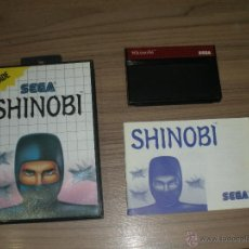 Videojuegos y Consolas: SHINOBI COMPLETO SEGA MASTER SYSTEM PAL ESPAÑA. Lote 51545898
