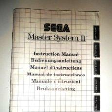 Videojuegos y Consolas: MANUAL DE INSTRUCCIONES QUE VENÍA CON LA SEGA MASTER SYSTEM II. Lote 51981657
