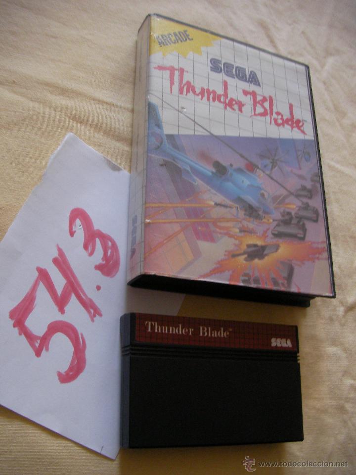 ANTIGUO JUEGO SEGA - THUNDER BLADE (Juguetes - Videojuegos y Consolas - Sega - Master System)