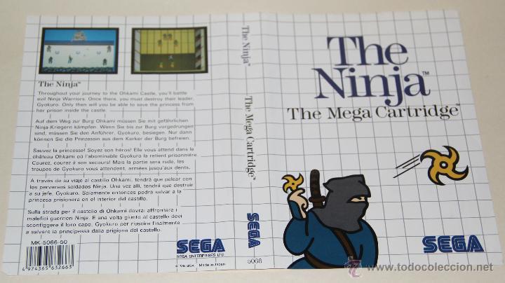 CARATULA THE NINJA MASTER SYSTEM SOLO CARATULA (Juguetes - Videojuegos y Consolas - Sega - Master System)