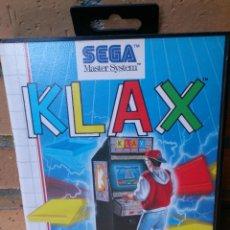 Videojuegos y Consolas: JUEGO SEGA MASTER SYSTEM KLAX . Lote 55792524