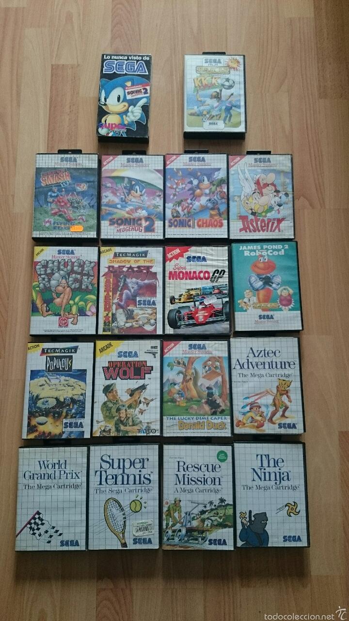 Lote 16 Juegos Sega Master System Comprar Videojuegos Y Consolas