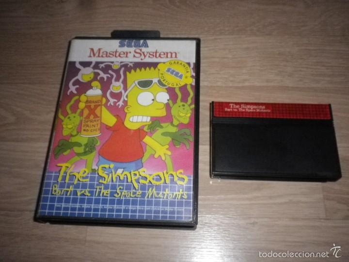 SEGA MASTER SYSTEM THE SIMPSONS BART VS THE SPACE MUTANTS - TECTOY PAL PORTUGAL RARO (Juguetes - Videojuegos y Consolas - Sega - Master System)