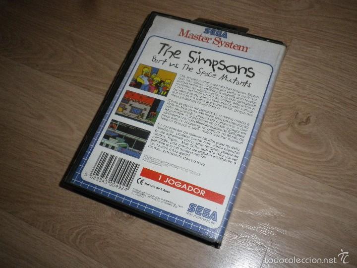 Videojuegos y Consolas: SEGA MASTER SYSTEM THE SIMPSONS BART VS THE SPACE MUTANTS - TECTOY PAL PORTUGAL RARO - Foto 2 - 56549937