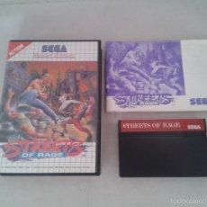 Videojuegos y Consolas: JUEGO SEGA MASTER SYSTEM STREETS OF RAGE PAL ESPAÑA COMPLETO CIB MAGNIFICO!!! R3887. Lote 58188496