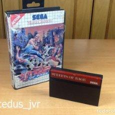 Videojuegos y Consolas: STREETS OF RAGE JUEGO PARA SEGA MASTER SYSTEM PAL CON CAJA. Lote 66037894