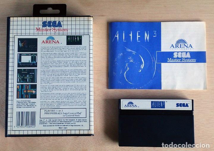 Videojuegos y Consolas: Alien 3 / Juego Master System / PAL / Sega 1992 - Foto 2 - 66215846