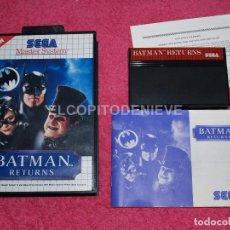 Videojuegos y Consolas: JUEGO PARA SEGA MASTER SYSTEM BATMAN RETURNS COMO NUEVO COMPLETO. Lote 66362714