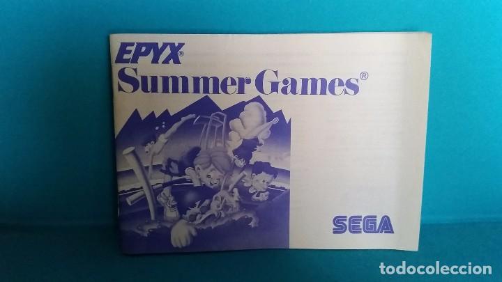 MANUAL DE INSTRUCCIONES SEGA MÁSTER SYSTEM SUMMER GAMES (Juguetes - Videojuegos y Consolas - Sega - Master System)