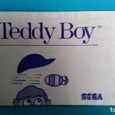 Videojuegos y Consolas: MANUAL DE INSTRUCCIONES SEGA MÁSTER SYSTEM TEDDY BOY. Lote 67632929