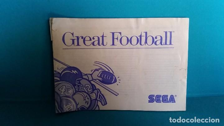 MANUAL DE INSTRUCCIONES SEGA MÁSTER SYSTEM GREAT FOOTBALL (Juguetes - Videojuegos y Consolas - Sega - Master System)