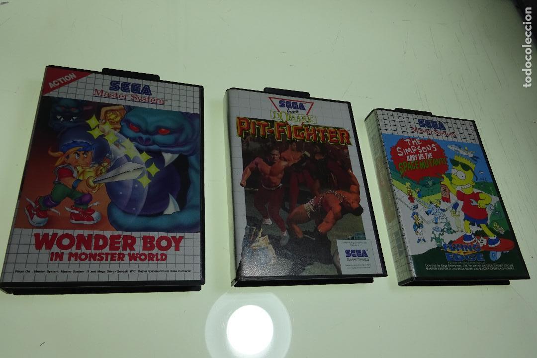 Interesante Lote De 3 Juegos Sega Master System Comprar