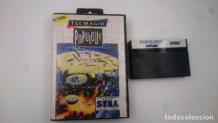Juego Populous Con Caja Sega Master System Ii 2 Comprar