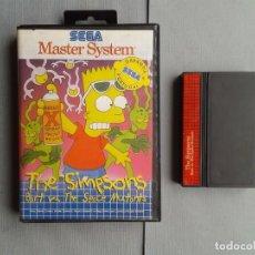 Videojuegos y Consolas: JUEGO SEGA MASTER SYSTEM THE SIMPSONS BART VS SPACE MUTANTS TEC TOY PAL MUY RARO R6011. Lote 83899636