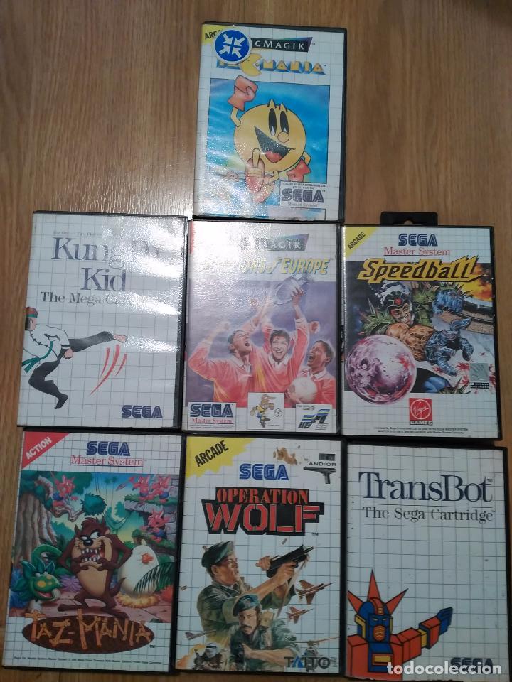 Lote 7 Juegos Sega Master System Tazmania Pacma Comprar