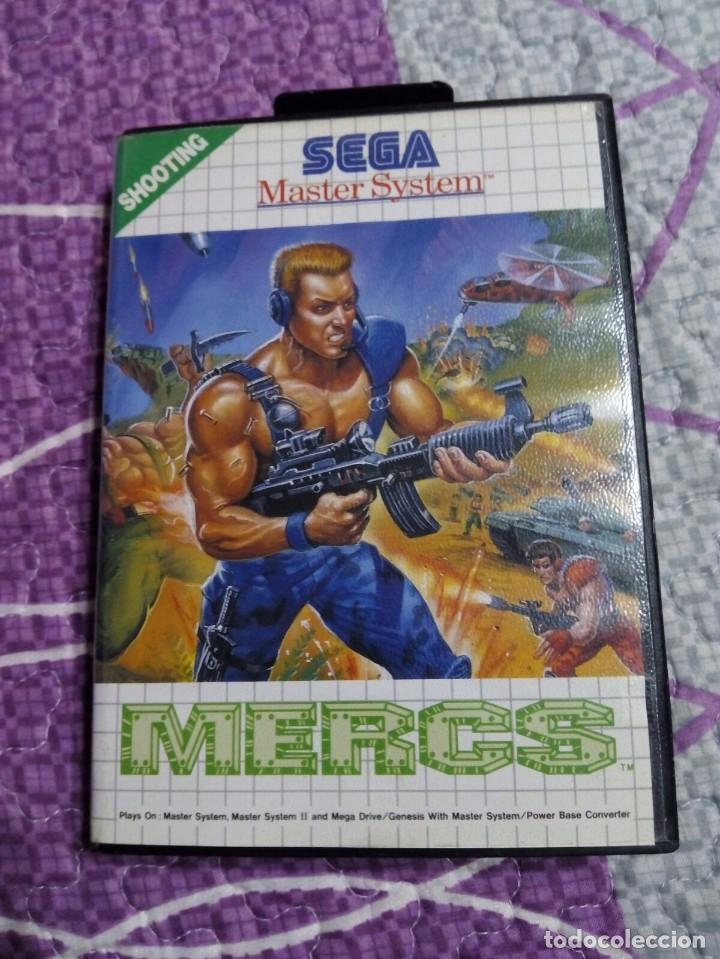 JUEGO MASTER SYSTEM MERCS (Juguetes - Videojuegos y Consolas - Sega - Master System)