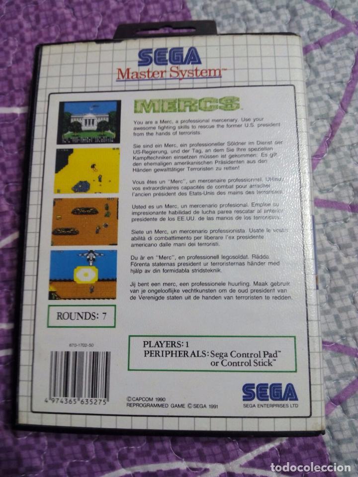 Videojuegos y Consolas: Juego master system mercs - Foto 2 - 93137005