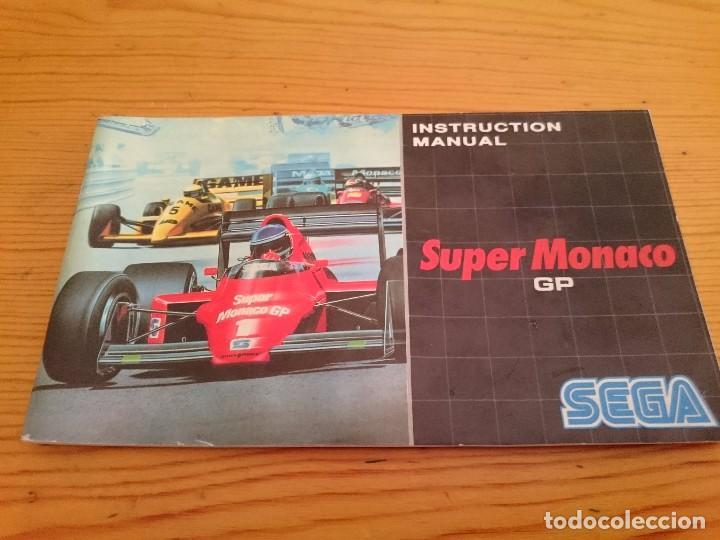 SUPER MONACO SEGA MASTER SYSTEM MANUAL ORIGINAL (Juguetes - Videojuegos y Consolas - Sega - Master System)