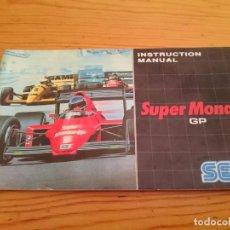 Videojuegos y Consolas: SUPER MONACO SEGA MASTER SYSTEM MANUAL ORIGINAL . Lote 93849300