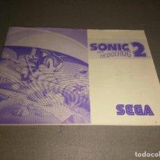 Videojuegos y Consolas: MANUAL - SONIC 2 THE HEDGEHOG -- SEGA - 39 PAGINAS . Lote 98474631