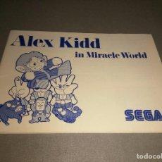 Videojuegos y Consolas: MANUAL JUEGO -ALEX KIDD ( IN MIRACLE WORLD) -MASTER SYSTEM - SEGA - 39 PAG. Lote 98474955