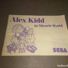 Videojuegos y Consolas: MANUAL JUEGO -ALEX KIDD ( IN MIRACLE WORLD) -MASTER SYSTEM - SEGA - 39 PAG Nº2. Lote 98475127