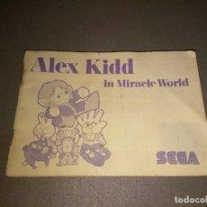 Videojuegos y Consolas: MANUAL JUEGO -ALEX KIDD ( IN MIRACLE WORLD) -MASTER SYSTEM - SEGA - 39 PAG Nº3. Lote 98475331