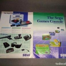 Videojuegos y Consolas: CATALOGO JUEGOS MASTER SYSTEM ( THE SEGA GAMES CONSOLE) 2 PAG . Lote 98476183