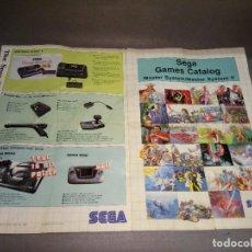 Videojuegos y Consolas: SEGA GAMES CATOLOG MASTER SYSTEM/ II - 2 PAG . Lote 98476591