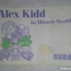 Videojuegos y Consolas: ALEX KIDD MANUAL ORIGINAL SEGA MASTER SYSTEM. Lote 98667295