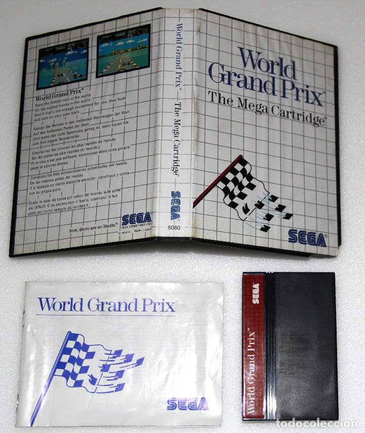 WORLD GRAND PRIX SEGA MASTER SYSTEM VIDEOJUEGO (Juguetes - Videojuegos y Consolas - Sega - Master System)