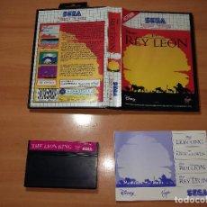 Videojuegos y Consolas: SMS0008 -SEGA MASTER SYSTEM EL REY LEON. Lote 99314987