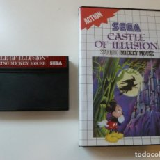Videojuegos y Consolas: CASTLE OF ILLUSION MICKEY MOUSE MASTER SYSTEM (SIN MANUAL). Lote 100745151