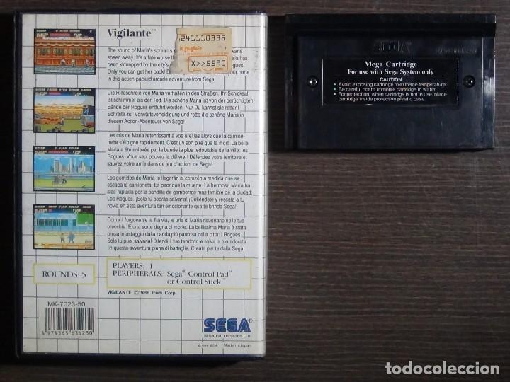 Videojuegos y Consolas: JUEGO SEGA MASTER SYSTEM VIGILANTE - Foto 3 - 158009174