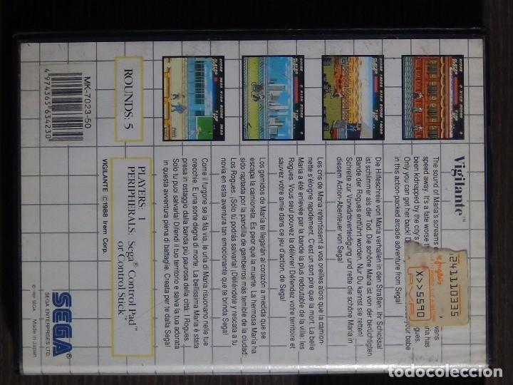 Videojuegos y Consolas: JUEGO SEGA MASTER SYSTEM VIGILANTE - Foto 4 - 158009174