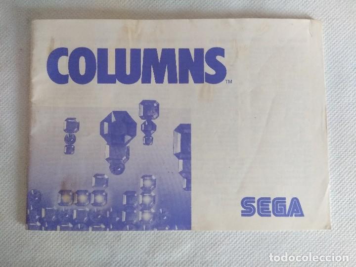 COLUMNS/MANUAL DE INSTRUCCIONES SEGA MASTER SYSTEM. (Juguetes - Videojuegos y Consolas - Sega - Master System)