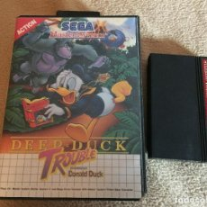 Videojuegos y Consolas: DEEP DUCK TROUBLE STARRING DONALD DUCK SEGA MASTER SYSTEM SISTEM KREATEN. Lote 113698579