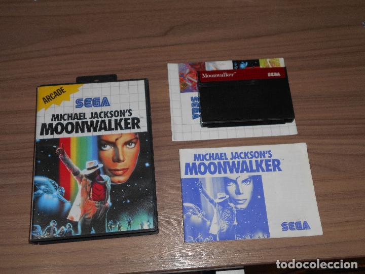 MICHAEL JACKSON'S MOONWALKER COMPLETO SEGA MASTER SYSTEM PAL ESPAÑA (Juguetes - Videojuegos y Consolas - Sega - Master System)