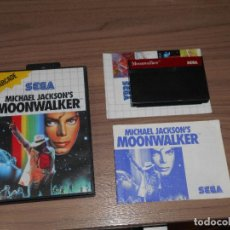 Videojuegos y Consolas: MICHAEL JACKSON'S MOONWALKER COMPLETO SEGA MASTER SYSTEM PAL ESPAÑA. Lote 114338519
