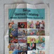 Videojuegos y Consolas: CATALOGO/SEGA MASTER SYSTEM .. Lote 114427447