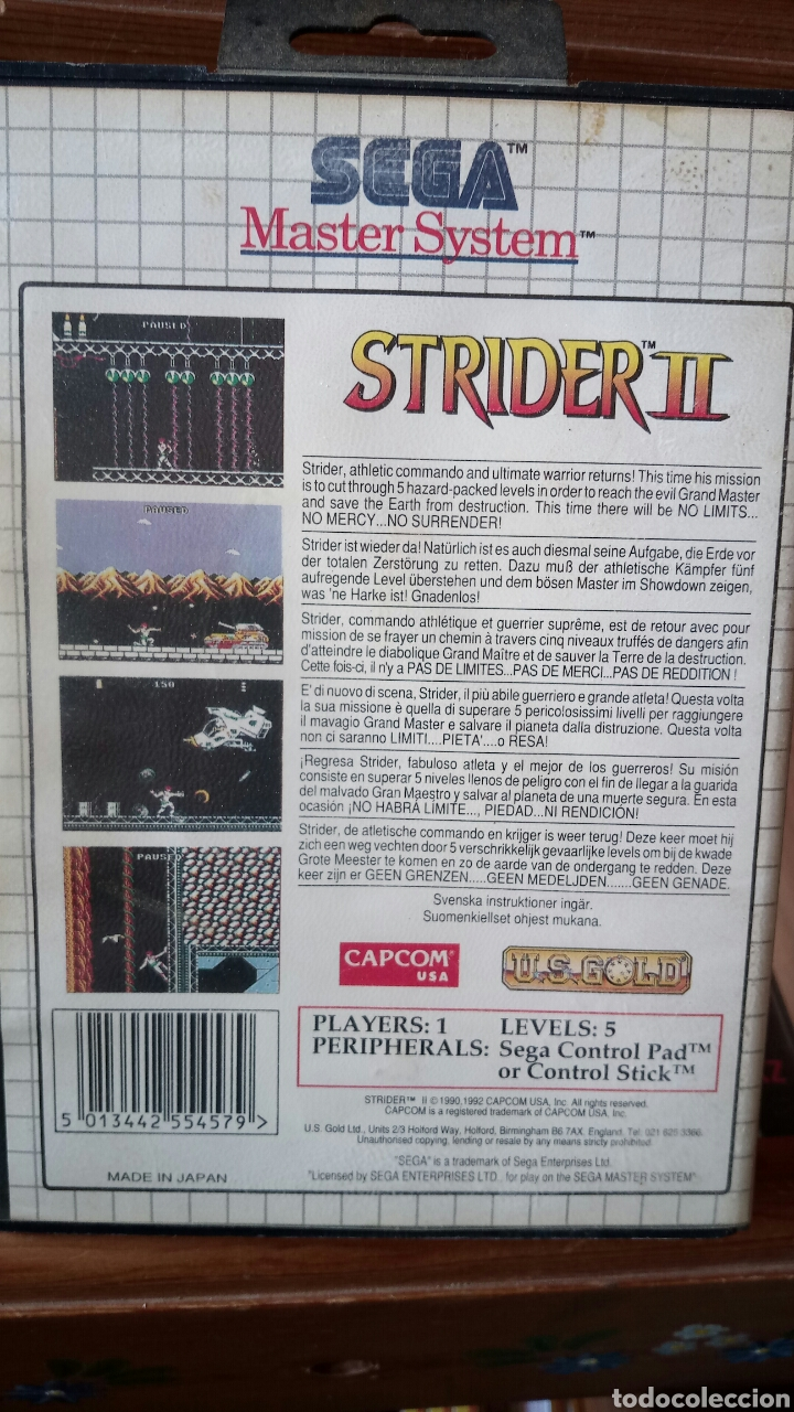 Videojuegos y Consolas: Strider 2 master system - Foto 2 - 121519496