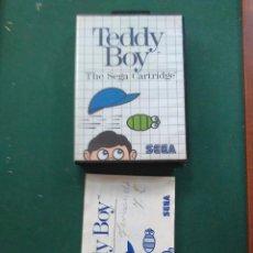 Videojuegos y Consolas: TEDDY BOY CAJA Y MANUAL DEL JUEGO SEGA MASTER SYSTEM. Lote 139823840