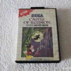 Videojuegos y Consolas: JUEGO SEGA MASTER SYSTEM: CASTLE OF ILLUSION - COMPLETO. Lote 125829543