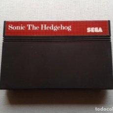 Videojuegos y Consolas: JUEGO SEGA MASTER SYSTEM SONIC THE HEDGEHOG SOLO CARTUCHO PAL R7728. Lote 126456931
