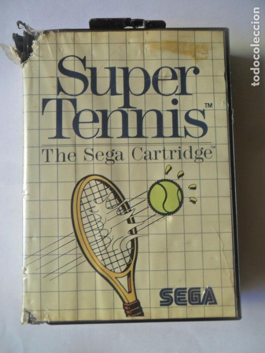 SUPER TENNIS, THE SEGA CARTRIDGE - JUEGO SEGA MASTER SYSTEM MASTERSYSTEM- PAL VERSIÓN ESPAÑOLA (Juguetes - Videojuegos y Consolas - Sega - Master System)