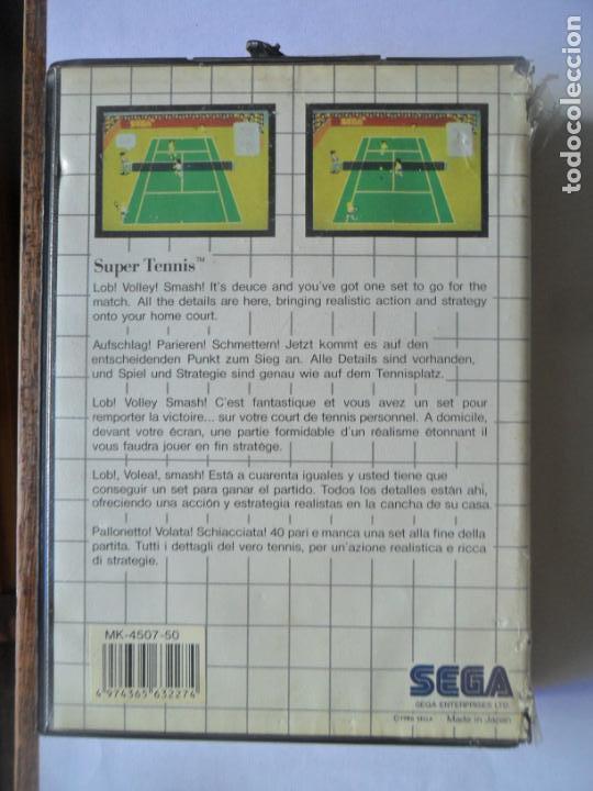 Videojuegos y Consolas: SUPER TENNIS, THE SEGA CARTRIDGE - JUEGO SEGA MASTER SYSTEM MASTERSYSTEM- PAL VERSIÓN ESPAÑOLA - Foto 3 - 130794436