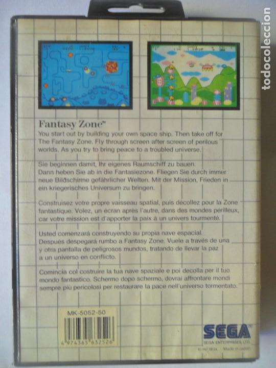 Videojuegos y Consolas: FANTASY ZONE, THE MEGA CARTRIDGE - JUEGO SEGA MASTER SYSTEM MASTERSYSTEM- PAL VERSIÓN ESPAÑOLA - Foto 3 - 130794784