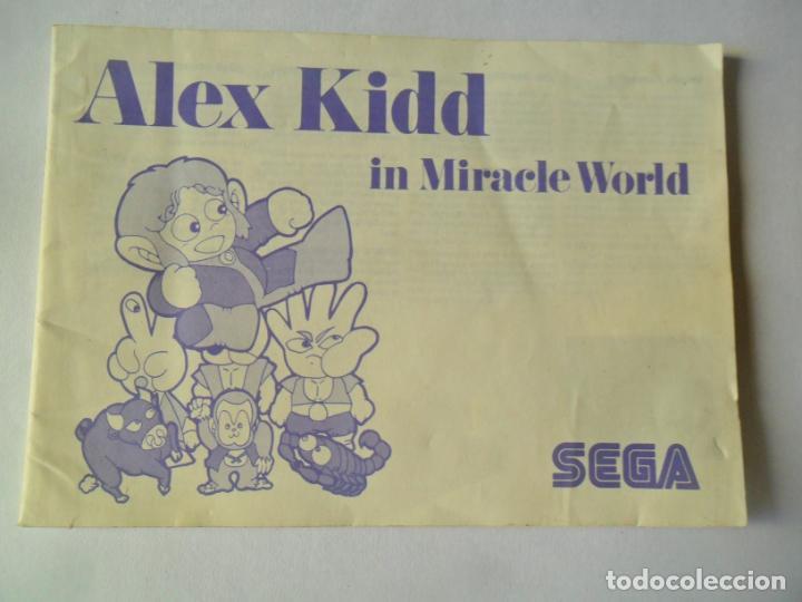 ALEX KIDD IN MIRACLE WORLD MANUAL - SEGA MASTER SYSTEM MASTERSYSTEM- PAL VERSIÓN ESPAÑOLA (Juguetes - Videojuegos y Consolas - Sega - Master System)
