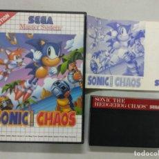Videojuegos y Consolas: SONIC THE HEDGEHOG CHAOS - SEGA MASTER SYSTEM - PAL - MS SMS. Lote 131033288