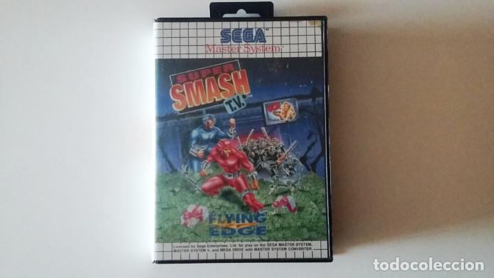 SMASH TV MASTER SYSTEM COMPLETO EN MUY BUEN ESTADO (Juguetes - Videojuegos y Consolas - Sega - Master System)